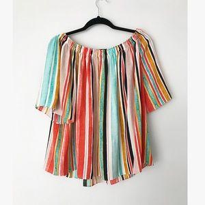 Hippy off the shoulder blouse